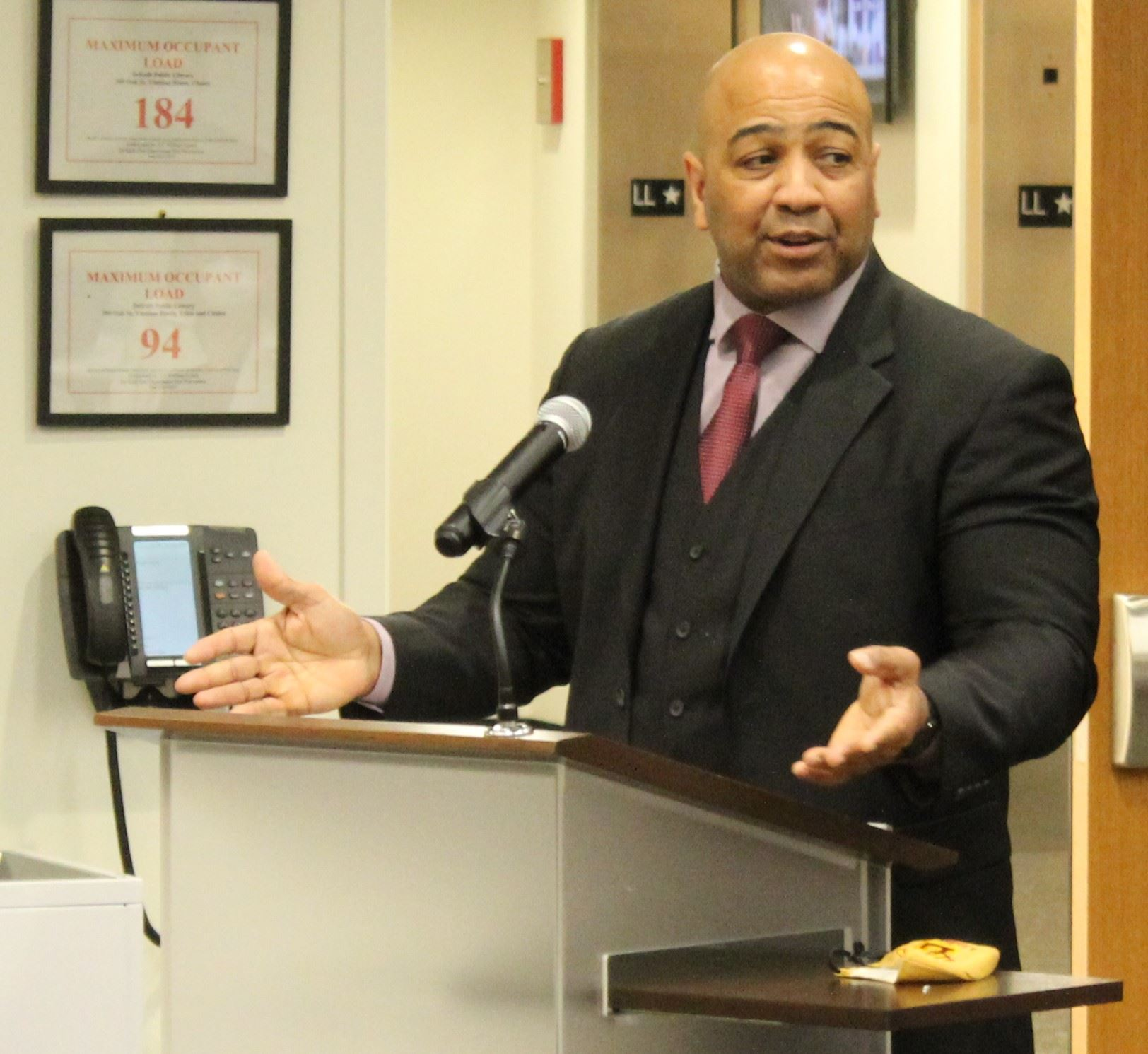 David Byrd speaks after being announced as DeKalb's next Chief of Police