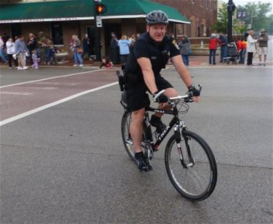 Officer Ackland on Bike Patrol